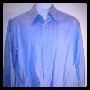 Tommy Bahama Men	Button Down Shirt Size M Blue